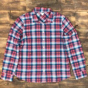 J. Crew Factory Plaid Perfect Shirt Button Up XL